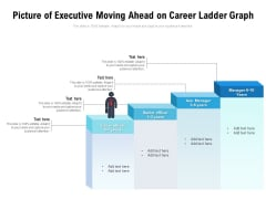 Picture Of Executive Moving Ahead On Career Ladder Graph Ppt PowerPoint Presentation Gallery Tips PDF