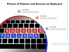 Picture Of Failures And Success On Keyboard Ppt PowerPoint Presentation Infographics Graphics Template PDF
