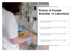 Picture Of Female Scientist In Laboratory Ppt PowerPoint Presentation Icon Topics