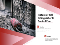 Picture Of Fire Extinguisher To Control Fire Ppt PowerPoint Presentation Infographic Template Slide Portrait PDF