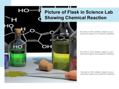 Picture Of Flask In Science Lab Showing Chemical Reaction Ppt PowerPoint Presentation Pictures Layout