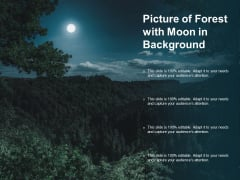 Picture Of Forest With Moon In Background Ppt PowerPoint Presentation Inspiration Portrait