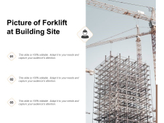 Picture Of Forklift At Building Site Ppt PowerPoint Presentation Styles Slideshow