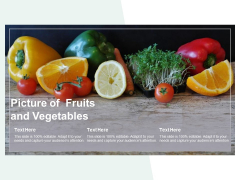 Picture Of Fruits And Vegetables Ppt PowerPoint Presentation Outline Brochure