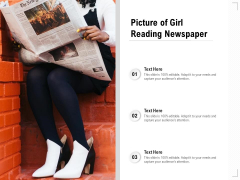 Picture Of Girl Reading Newspaper Ppt PowerPoint Presentation Gallery Elements PDF