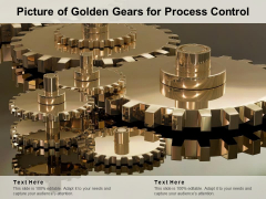Picture Of Golden Gears For Process Control Ppt PowerPoint Presentation Infographics Background Images