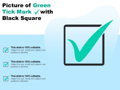 Picture Of Green Tick Mark With Black Square Ppt PowerPoint Presentation Infographics Show