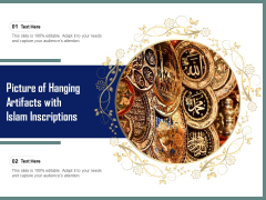 Picture Of Hanging Artifacts With Islam Inscriptions Ppt PowerPoint Presentation Model Vector PDF