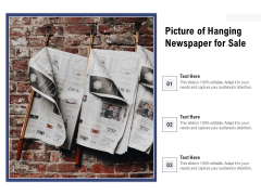 Picture Of Hanging Newspaper For Sale Ppt PowerPoint Presentation File Slide Download PDF