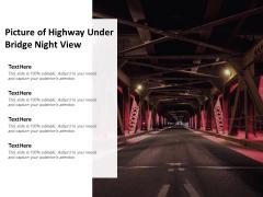 Picture Of Highway Under Bridge Night View Ppt PowerPoint Presentation Inspiration Portfolio