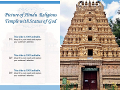Picture Of Hindu Religious Temple With Statue Of God Ppt PowerPoint Presentation Gallery Grid PDF