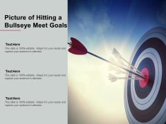 Picture Of Hitting A Bullseye Meet Goals Ppt PowerPoint Presentation Slides Graphic Images