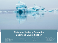Picture Of Iceberg Ocean For Business Diversification Ppt Powerpoint Presentation Show Tips