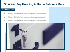 Picture Of Key Handing In Home Entrance Door Ppt PowerPoint Presentation Icon Example File PDF