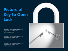 Picture Of Key To Open Lock Ppt PowerPoint Presentation Gallery Icon PDF