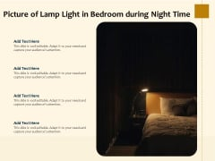 Picture Of Lamp Light In Bedroom During Night Time Ppt PowerPoint Presentation File Outfit PDF