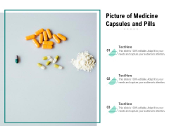 Picture Of Medicine Capsules And Pills Ppt PowerPoint Presentation File Format Ideas PDF