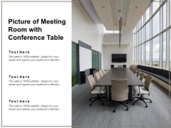 Picture Of Meeting Room With Conference Table Ppt PowerPoint Presentation Icon Themes