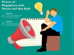 Picture Of Megaphone With Person And Idea Bulb Ppt PowerPoint Presentation Model Information PDF