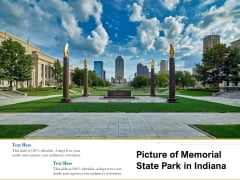 Picture Of Memorial State Park In Indiana Ppt PowerPoint Presentation Summary Example PDF