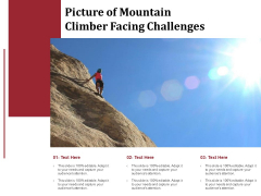 Picture Of Mountain Climber Facing Challenges Ppt PowerPoint Presentation Summary Inspiration PDF