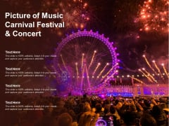 Picture Of Music Carnival Festival And Concert Ppt Powerpoint Presentation Slides Influencers