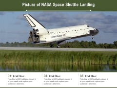 Picture Of NASA Space Shuttle Landing Ppt PowerPoint Presentation File Show PDF