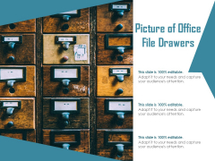 Picture Of Office File Drawers Ppt PowerPoint Presentation Slides Files