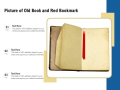 Picture Of Old Book And Red Bookmark Ppt PowerPoint Presentation File Vector PDF