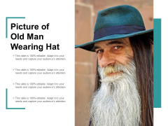 Picture Of Old Man Wearing Hat Ppt Powerpoint Presentation Icon Maker