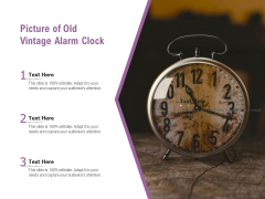 Picture Of Old Vintage Alarm Clock Ppt PowerPoint Presentation Inspiration Images PDF