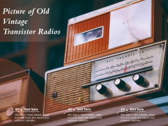 Picture Of Old Vintage Transistor Radios Ppt PowerPoint Presentation Infographics Picture PDF