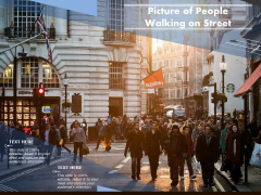 Picture Of People Walking On Street Ppt PowerPoint Presentation Icon Model PDF