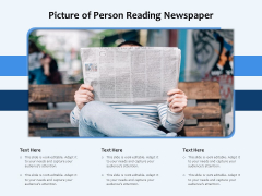 Picture Of Person Reading Newspaper Ppt PowerPoint Presentation File Professional PDF