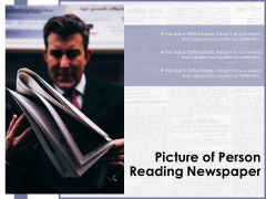 Picture Of Person Reading Newspaper Ppt PowerPoint Presentation Professional Microsoft PDF
