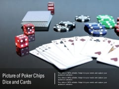 Picture Of Poker Chips Dice And Cards Ppt PowerPoint Presentation Diagram Ppt