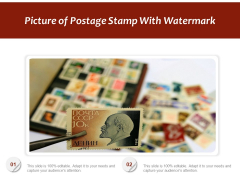 Picture Of Postage Stamp With Watermark Ppt PowerPoint Presentation Background Image PDF
