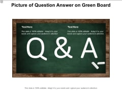Picture Of Question Answer On Green Board Ppt PowerPoint Presentation Pictures Good