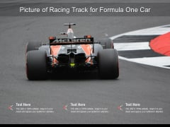 Picture Of Racing Track For Formula One Car Ppt PowerPoint Presentation Summary Files PDF