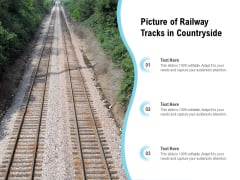 Picture Of Railway Tracks In Countryside Ppt PowerPoint Presentation Icon Ideas PDF