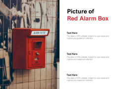 Picture Of Red Alarm Box Ppt Powerpoint Presentation Summary Infographics