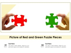 Picture Of Red And Green Puzzle Pieces Ppt PowerPoint Presentation File Layout PDF