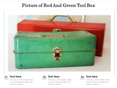 Picture Of Red And Green Tool Box Ppt Infographics Show PDF