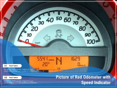 Picture Of Red Odometer With Speed Indicator Ppt PowerPoint Presentation Summary Ideas PDF