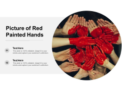 Picture Of Red Painted Hands Ppt PowerPoint Presentation Portfolio Background Designs