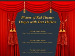 Picture Of Red Theater Drapes With Text Holders Ppt PowerPoint Presentation Model Inspiration