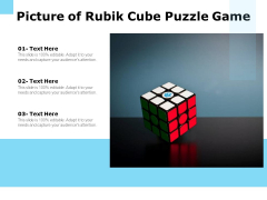Picture Of Rubik Cube Puzzle Game Ppt PowerPoint Presentation Model Infographic Template PDF