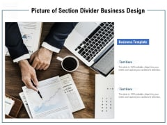 Picture Of Section Divider Business Design Ppt PowerPoint Presentation Inspiration Background Image PDF