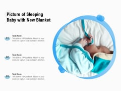 Picture Of Sleeping Baby With New Blanket Ppt PowerPoint Presentation Gallery Images PDF