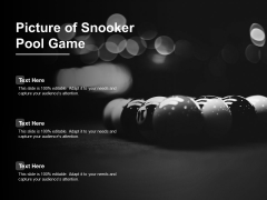 Picture Of Snooker Pool Game Ppt PowerPoint Presentation Show Structure Cpb